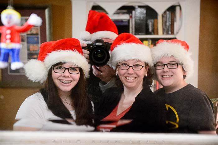 Yr5•085/365•1546 Family in Santa Hats December 24, 2013