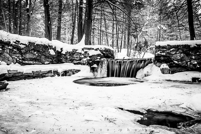 Yr5•132-365•1593 A Winter Falls in Black & White February 9, 2014