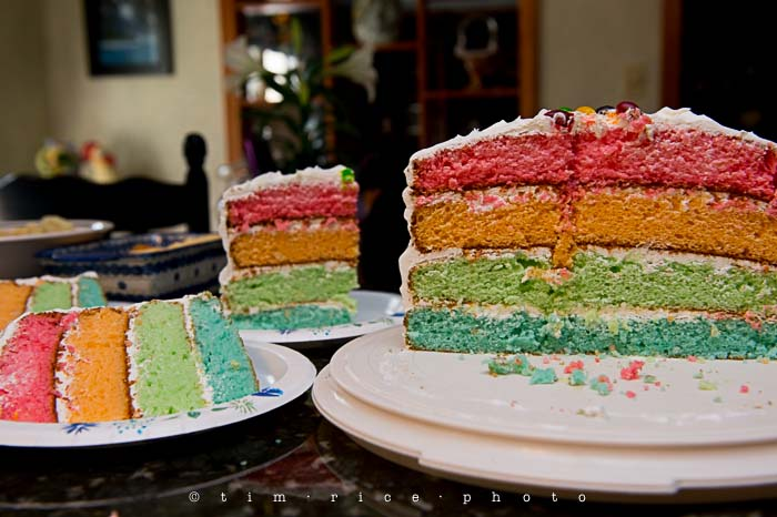 Yr5•202-365•1662•Rainbow Cake
