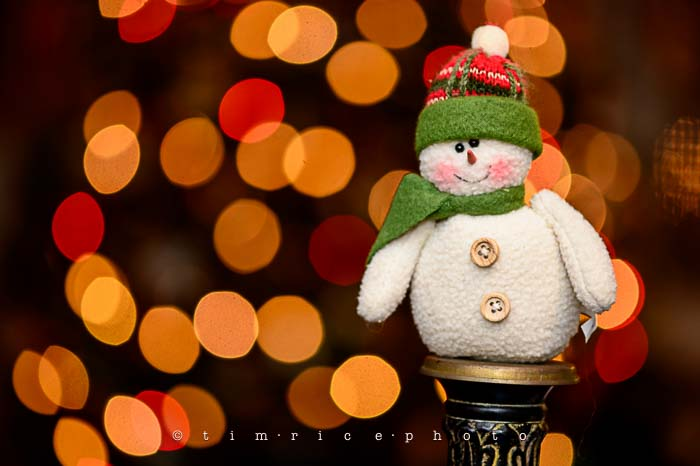 Yr6•068/365•1894 Bokeh Snowman December 7, 2014