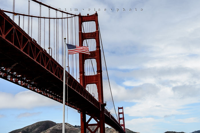 Yr6•277/365•2097 The Flag and The Bridge July 4, 2015